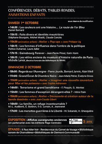 Salon du Livre Royat - Chamalières : 4e édition les 1 et 2 octobre 2016