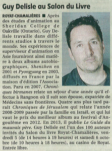 Article La Montagne, 28 septembre 2013.