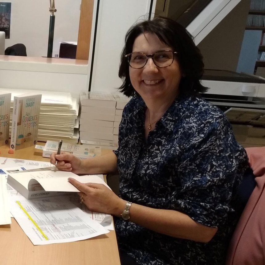 Portrait de Véronique CHAUVY - autrice présente au Salon du Livre de Royat-Chamalières 2019