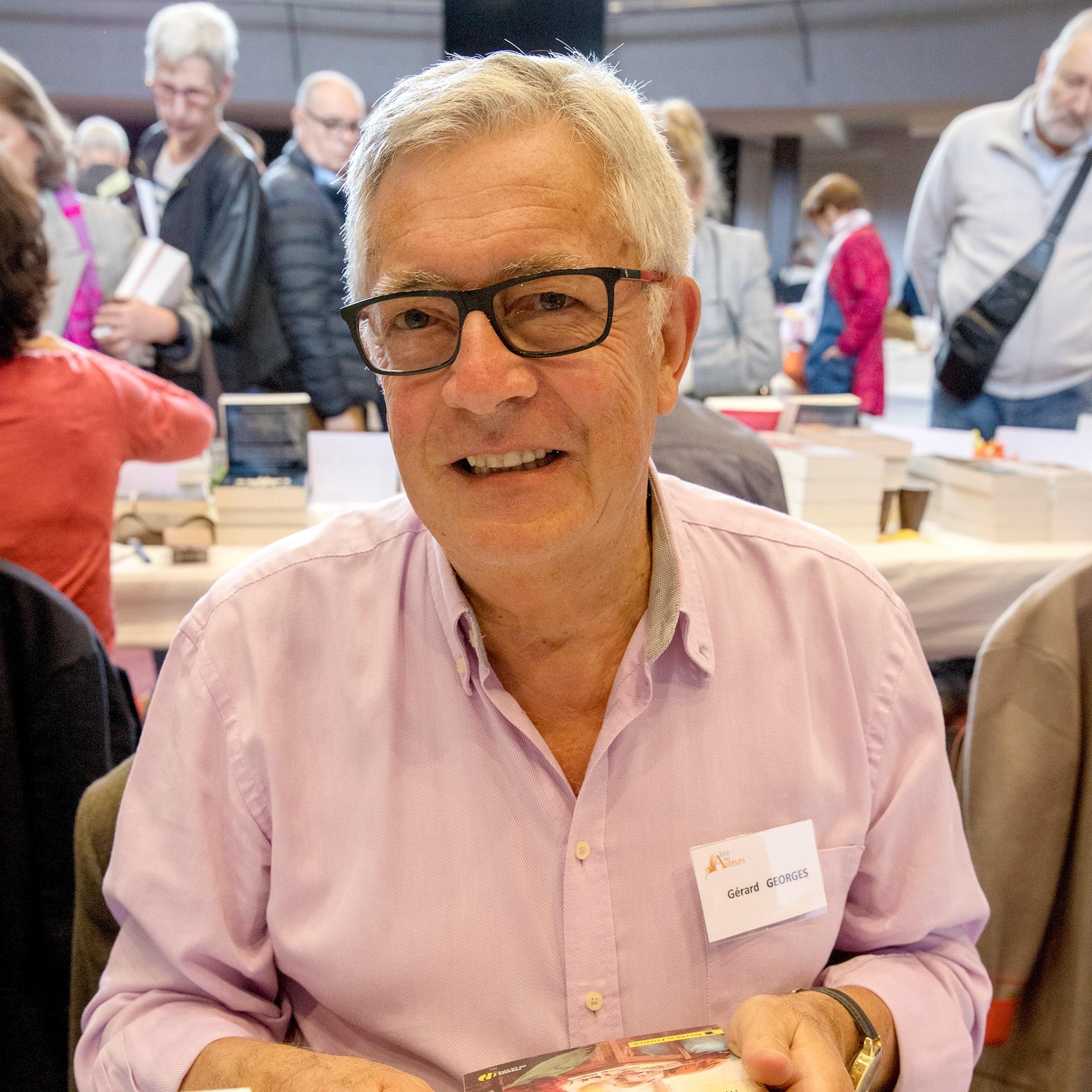 Portrait de Gérard GEORGES - auteur présent au Salon du Livre de Royat-Chamalières 2019